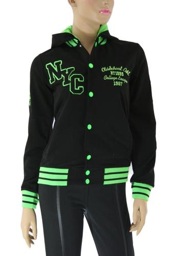 Кофта спортивная женская NYC green