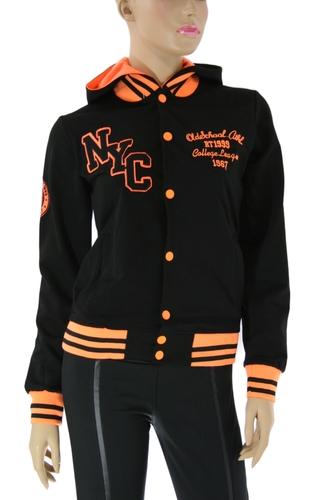 Кофта спортивная женская NYC orange