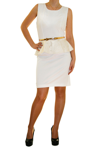 Платье Aron с гипюровым теснением