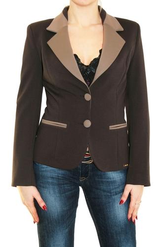 Пиджак женский For See темно-коричневый