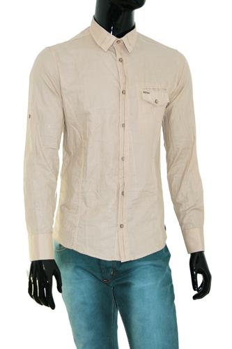 Рубашка Xram бежевая